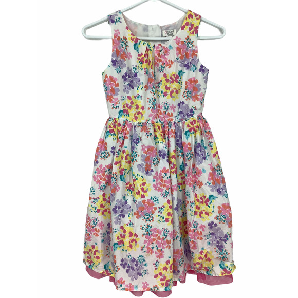 The Children's Place Girl's White Floral Dress 8